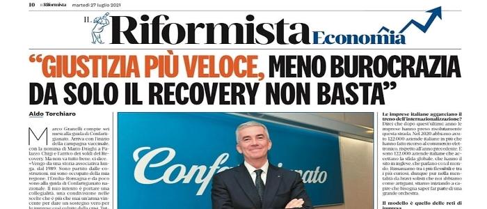 """MEDIA – Il Presidente Granelli su Il Riformista: """"Non solo Pnrr, servono le riforme. Il futuro è artigiano"""""""