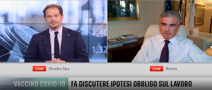 """MEDIA – Il Presidente Granelli a SkyTg24: """"Su green pass chiarire responsabilità degli imprenditori"""""""