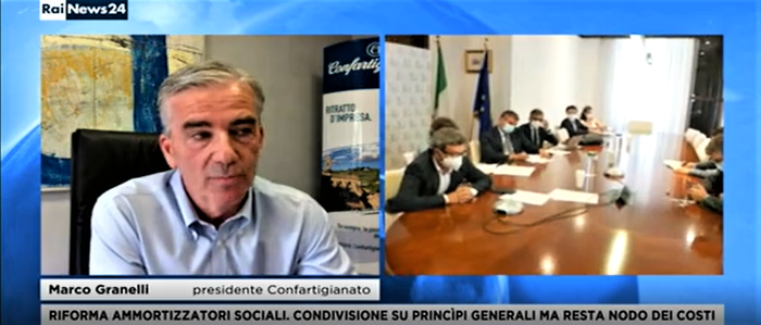 """MEDIA – Il Presidente Granelli a RaiNews24: """"Bene la riforma degli ammortizzatori sociali. Attendiamo di chiarire costi e prestazioni"""""""